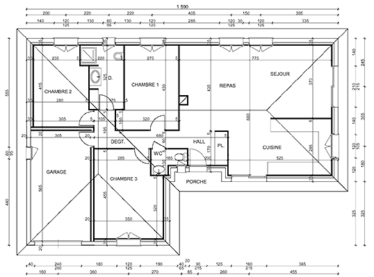Plan Architectural D Une Maison