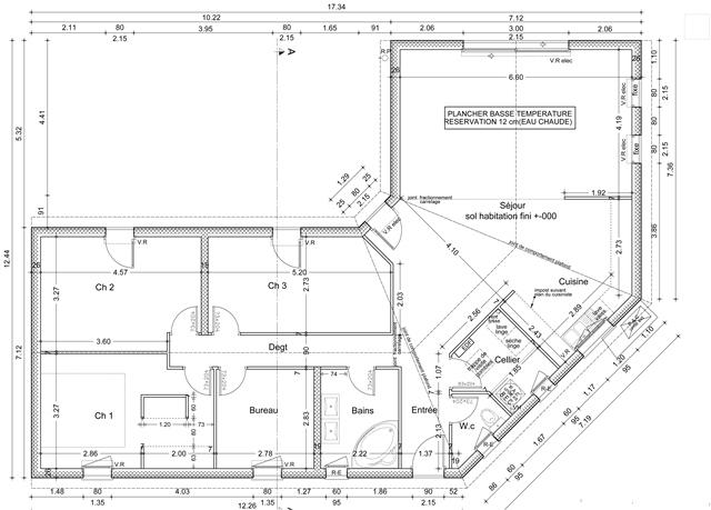 Plan maison moderne en l maison fran ois fabie for Maison moderne plan