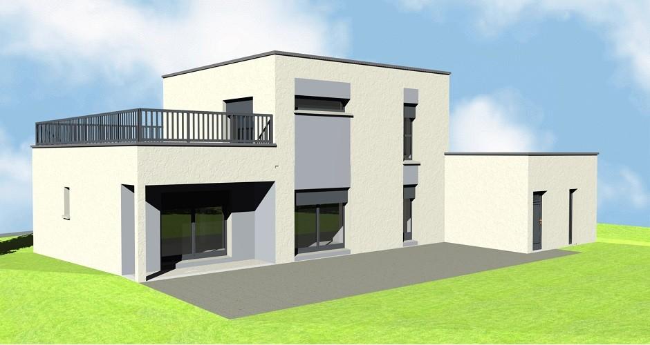 maison cubique plan maison fran ois fabie. Black Bedroom Furniture Sets. Home Design Ideas