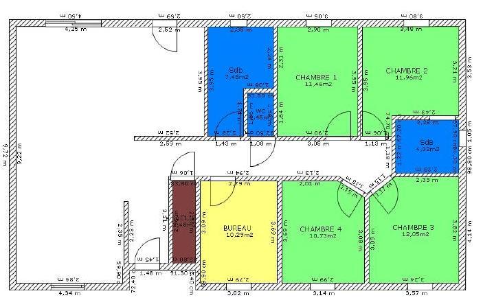 plan de maison 95m2
