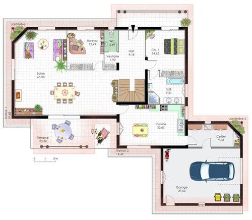 Plan maison contemporaine - Maison François Fabie