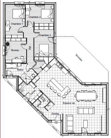 Plan Maison Plain Pied M Plan De Maison M Plain Pied Gratuit