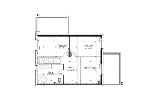 Plan de maison cubique toit plat maison fran ois fabie - Plan maison cubique toit plat ...