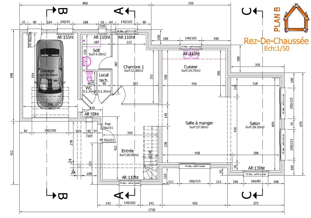 plant de construction d une maison maison fran ois fabie. Black Bedroom Furniture Sets. Home Design Ideas