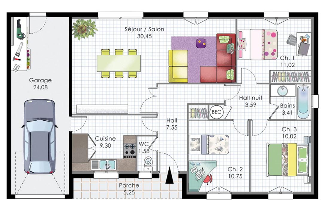 High Quality Plan Maison Contemporaine Architecte