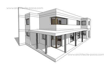Exemple Plan Maison Moderne  Maison Franois Fabie