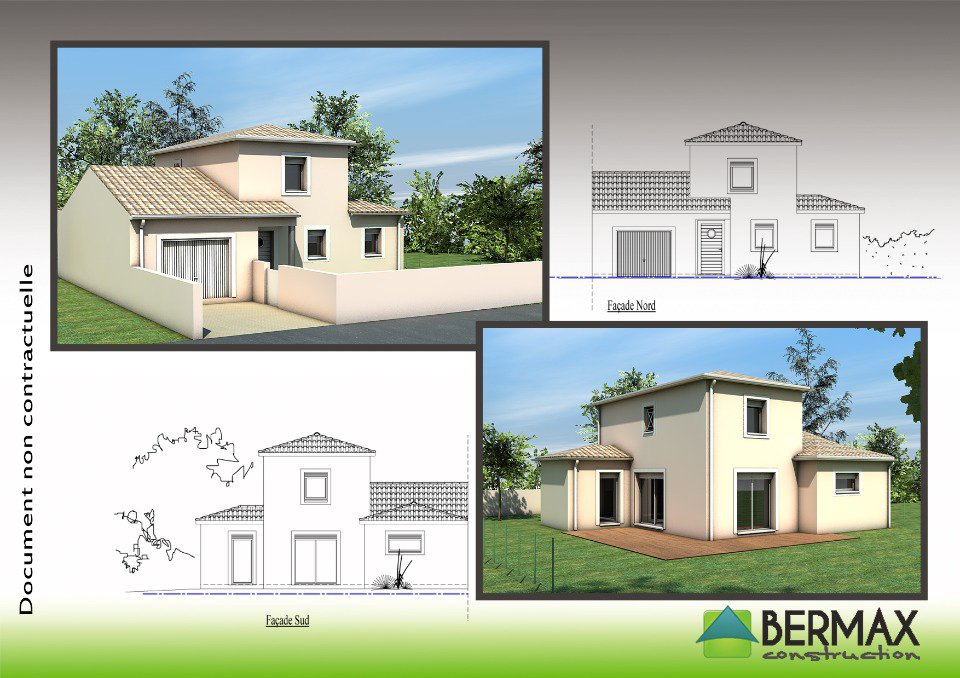 Plan de maison moderne a etage maison fran ois fabie for Achat maison neuve 01