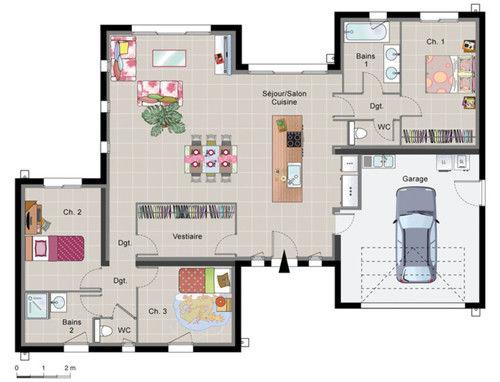 Id e plan maison moderne maison fran ois fabie for Idee design maison