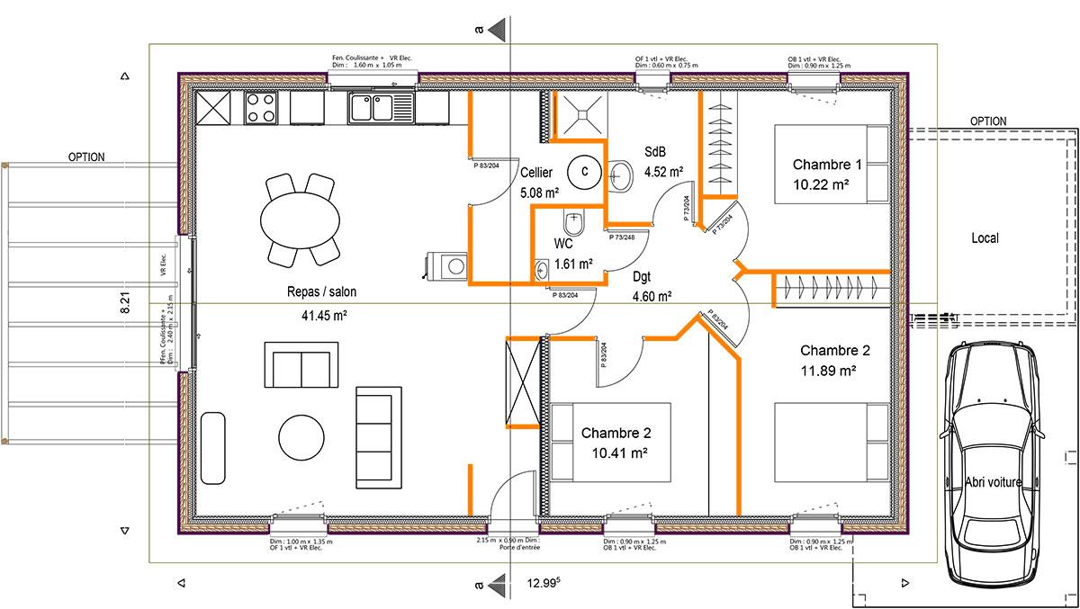 Modele construction maison maison fran ois fabie for Construction maison 200m2