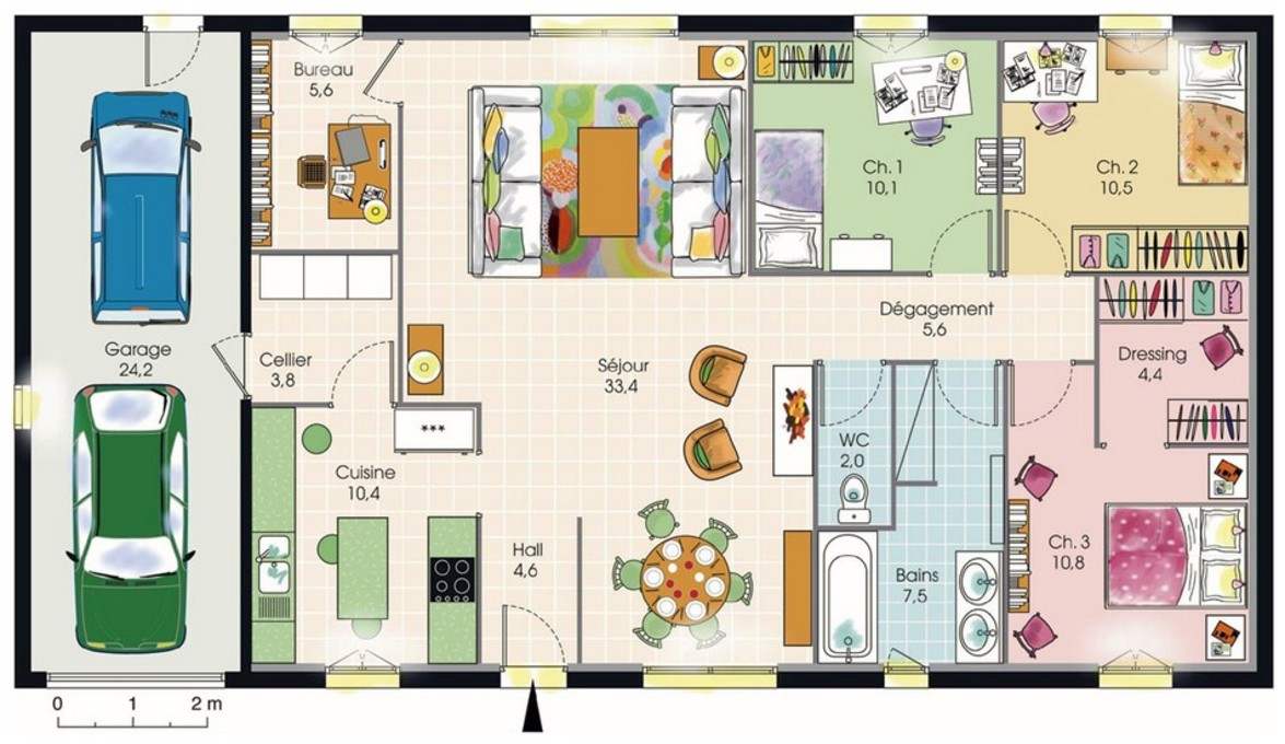 Plan Maison Moderne 3 Chambres Photo