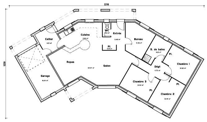 Plan De Maison Plain Pied Gratuit