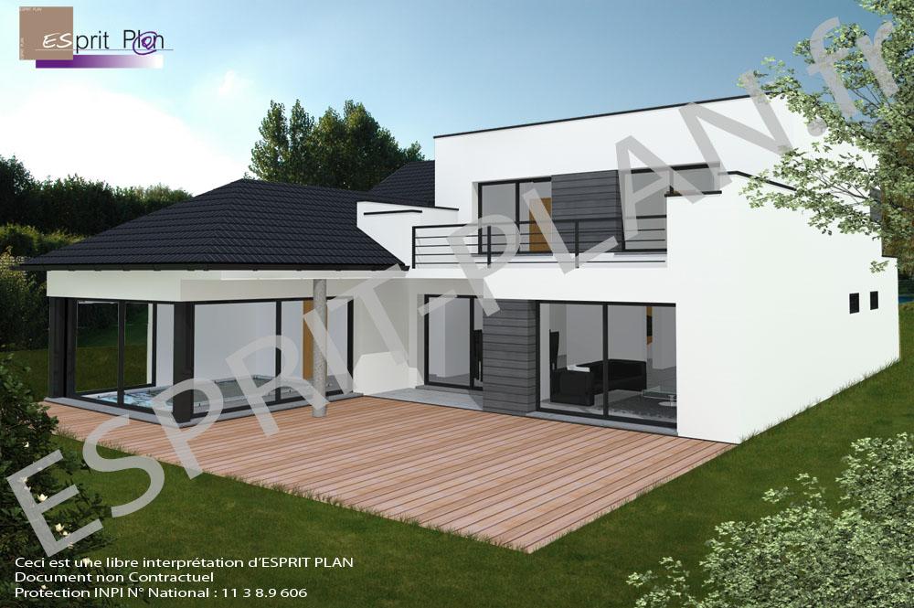 Plan Maison Neuve Contemporaine  Maison Franois Fabie