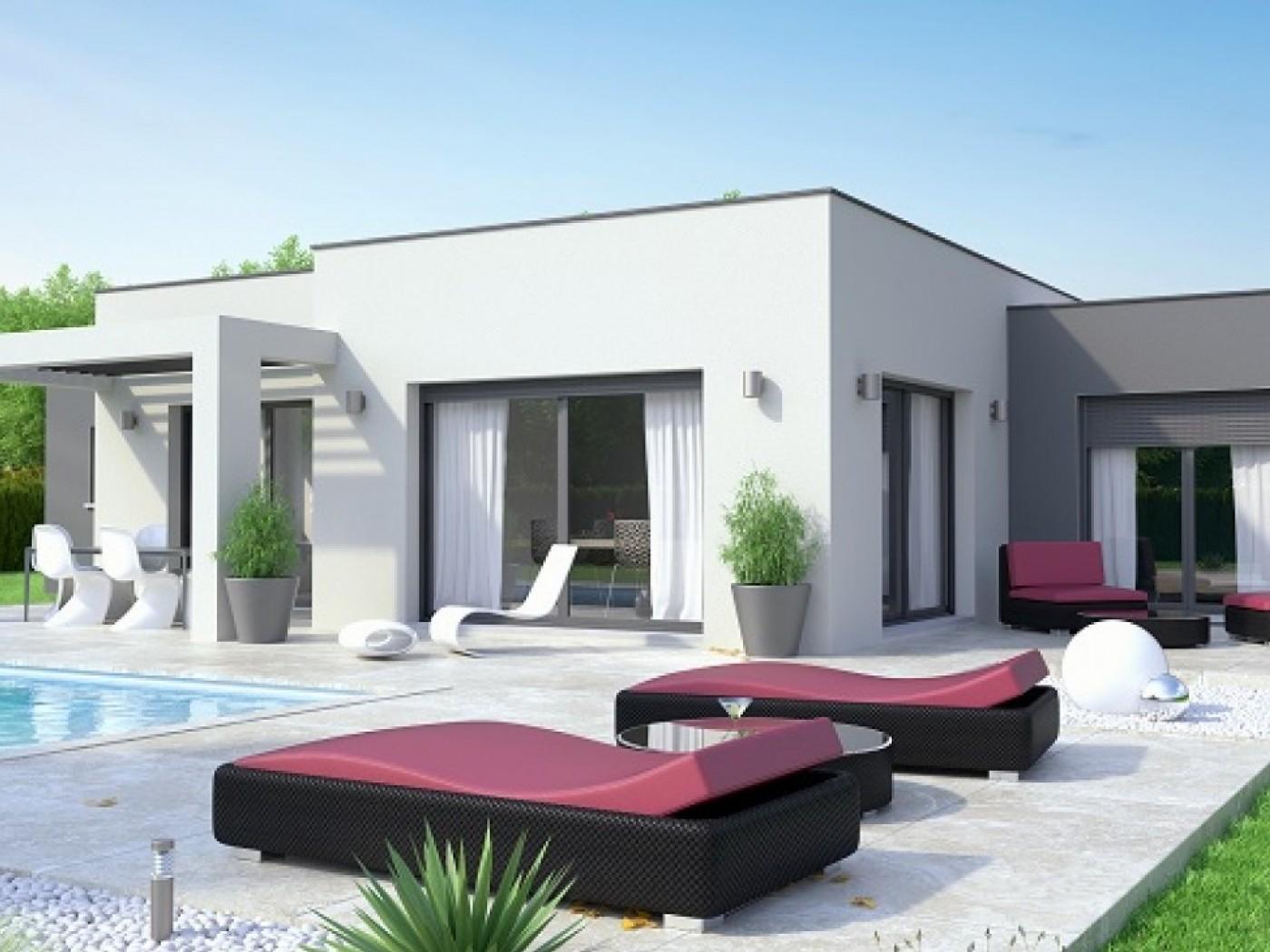Populaire Petite maison contemporaine toit plat - Maison François Fabie QF32