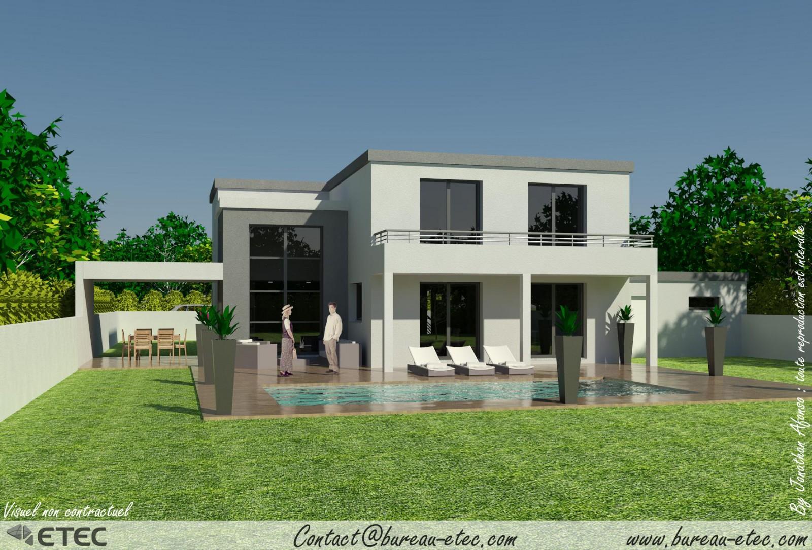 Modele maison toit terrasse maison fran ois fabie for Modele de toiture pour maison