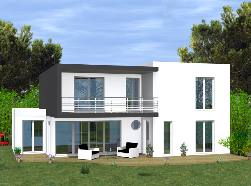 Modele villa contemporaine maison fran ois fabie for Modele de villa contemporaine