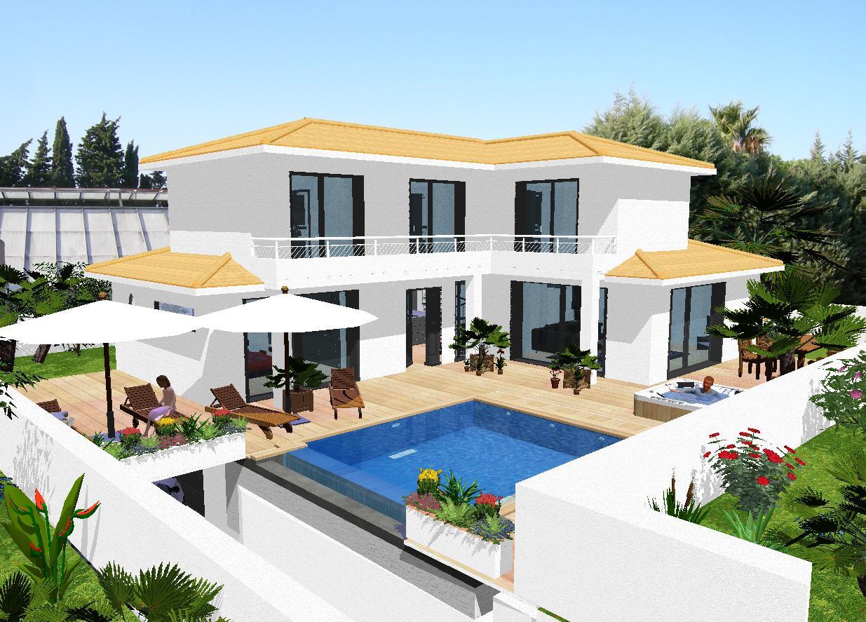 Modele des maisons moderne maison fran ois fabie for Modele jardin moderne