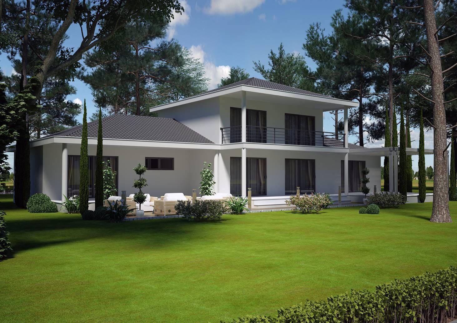 Modele de villa contemporaine maison fran ois fabie - Maison moderne 150m2 ...