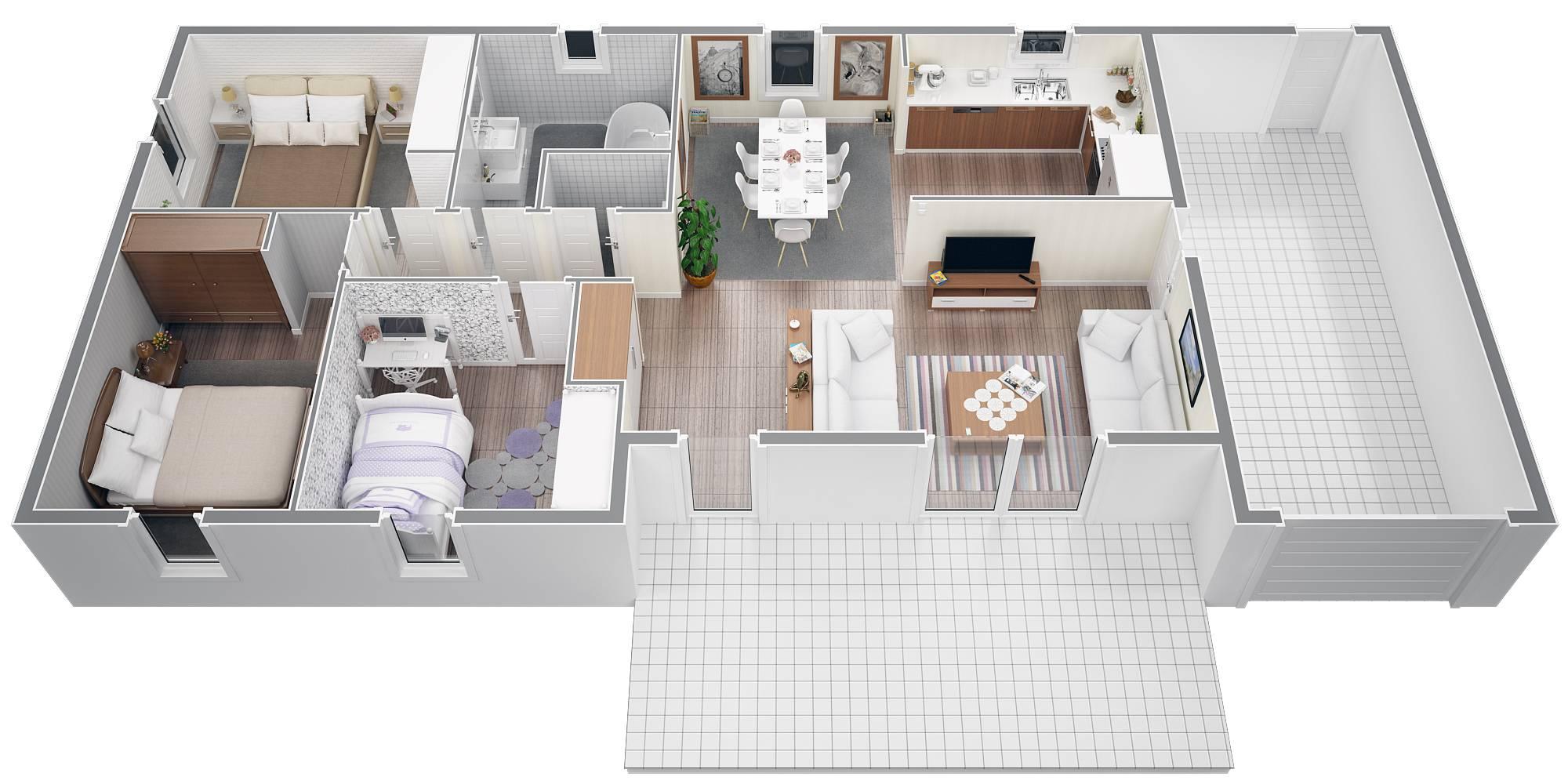modele de maison a construire plain pied - maison françois fabie - Plan Maison Plain Pied 6 Chambres
