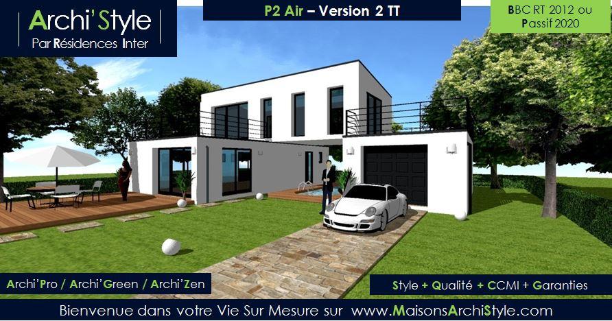 Maison en cube moderne - Maison François Fabie
