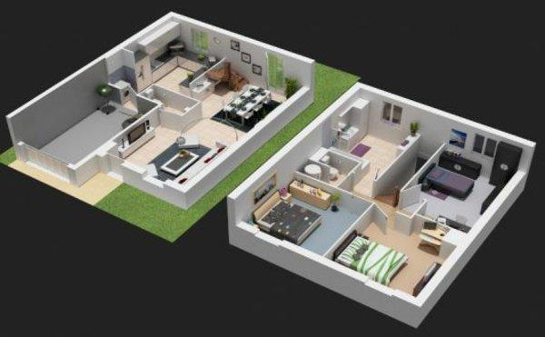 Maison plan 3d maison fran ois fabie for Application pour construire une maison en 3d