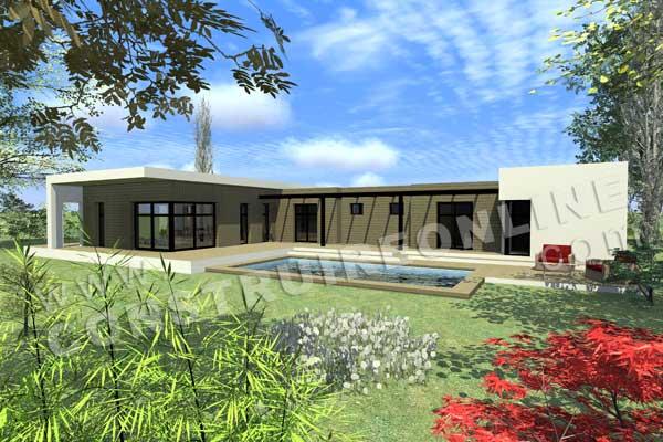 modle de maison contemporaine plain pied - Photo Maison Contemporaine Plain Pied