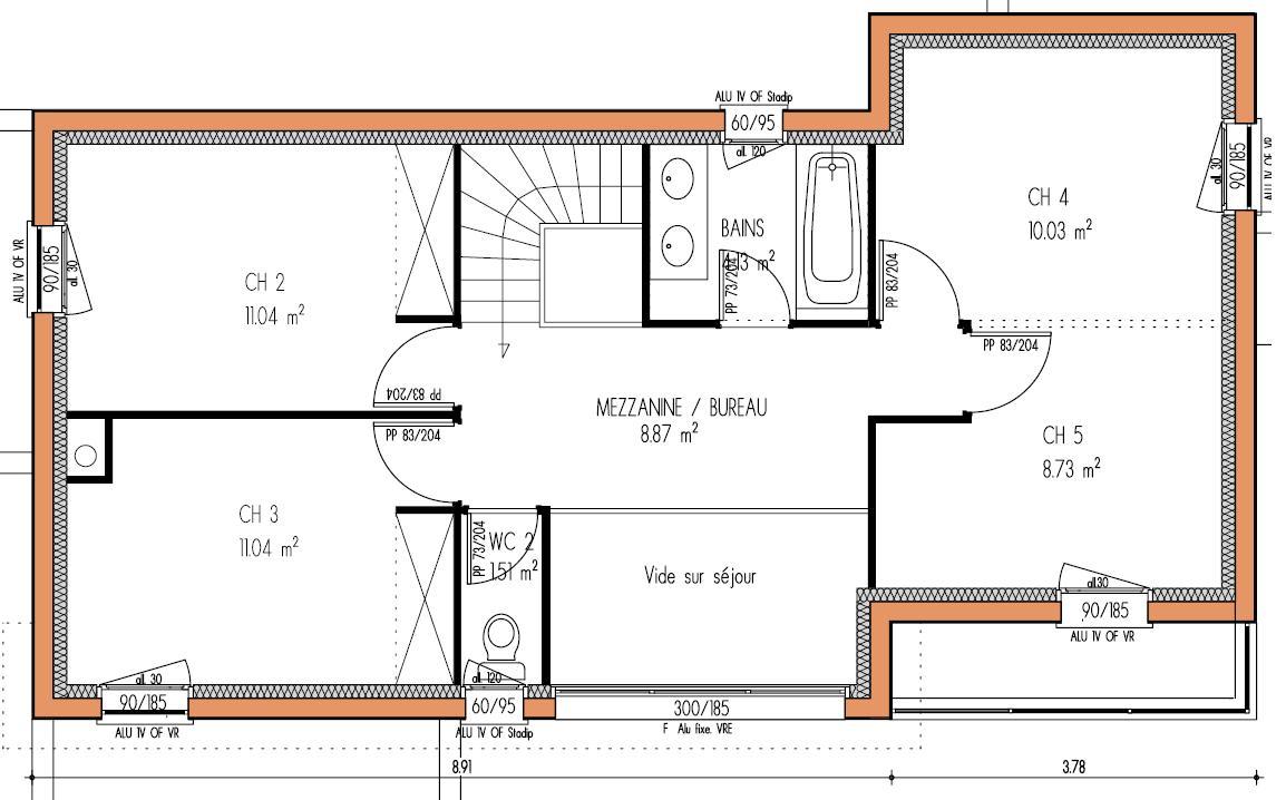 plan de maison individuelle moderne - maison françois fabie - Plans De Maisons Modernes