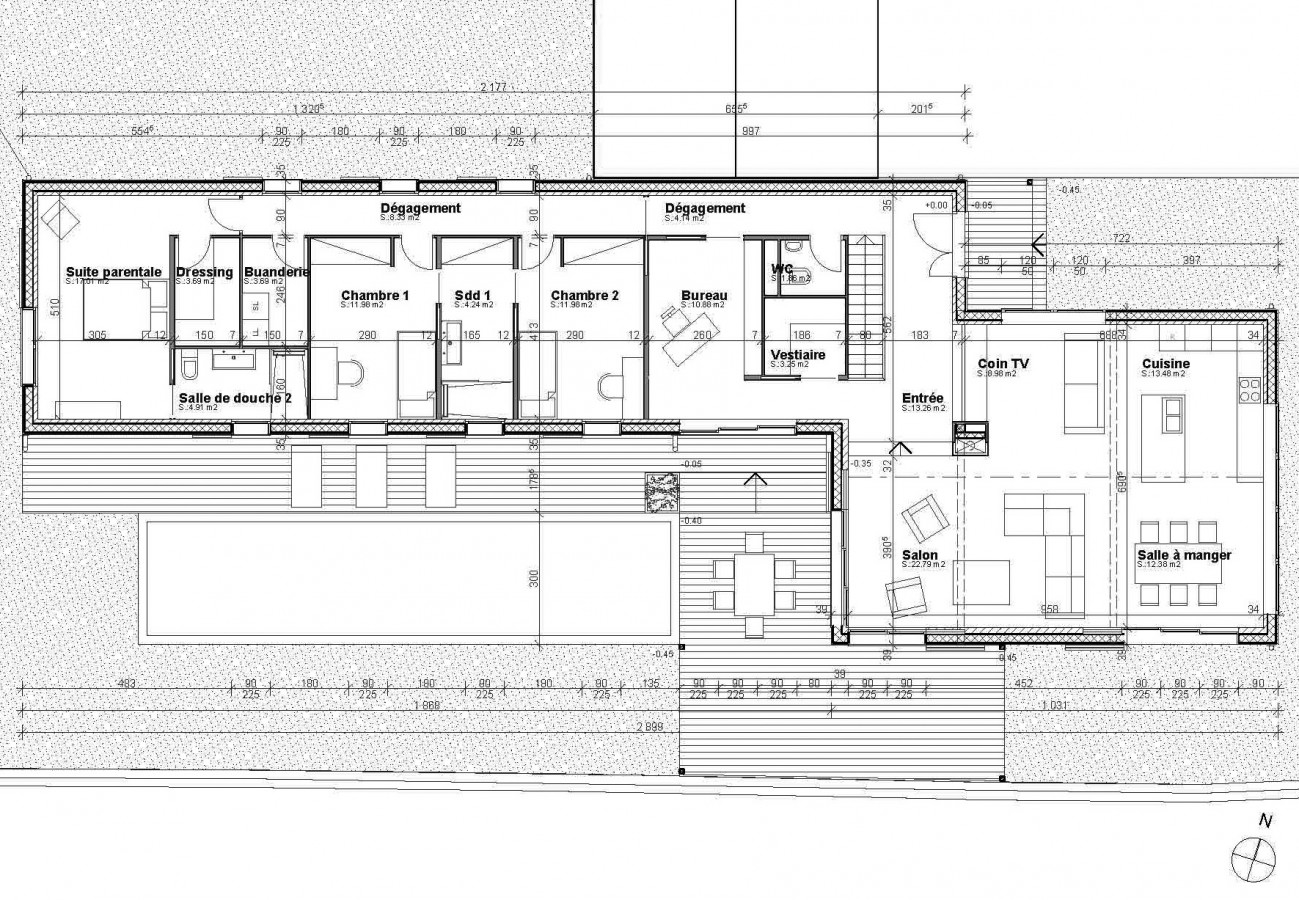 plan maison plain pied architecte