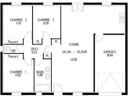 faire son plan de maison maison fran ois fabie. Black Bedroom Furniture Sets. Home Design Ideas