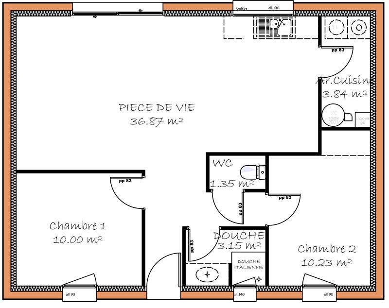 Plan De Petite Maison Plain Pied  Maison Franois Fabie