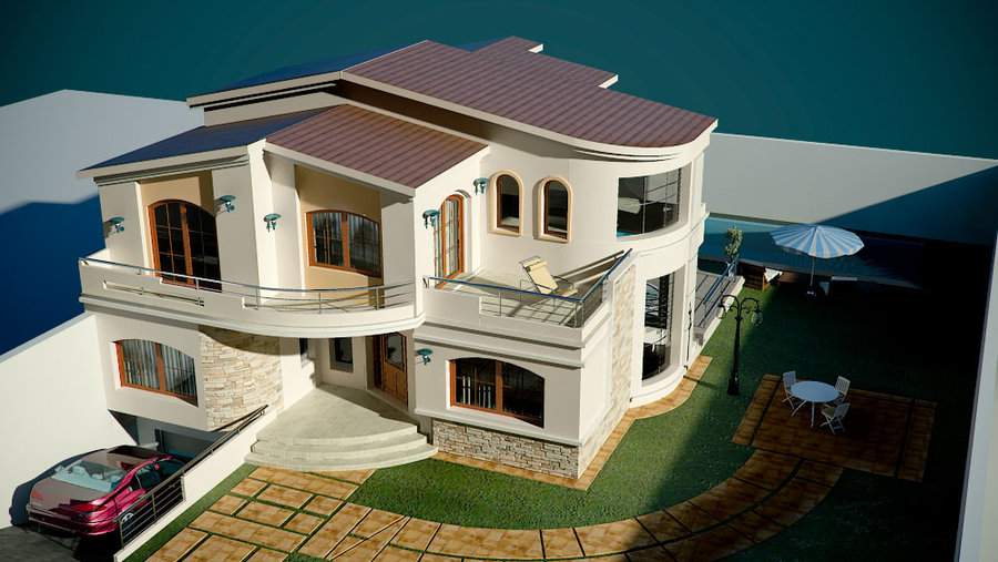 Plan de villa moderne maison fran ois fabie for Villa basse moderne