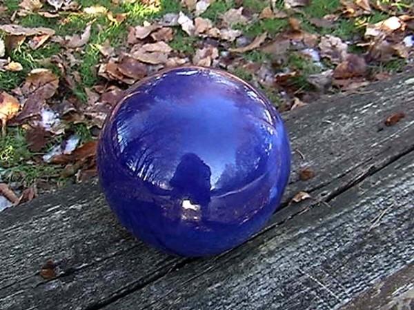 Boule ceramique pour jardin maison fran ois fabie for Boule deco jardin