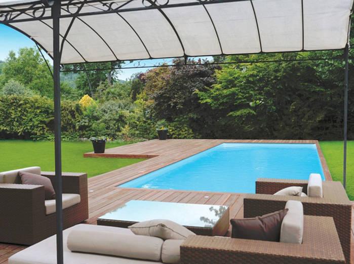 Deco exterieur piscine - Maison François Fabie