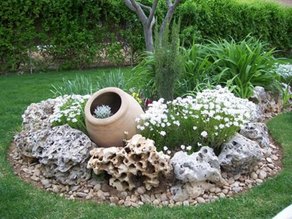 deco jardin en pierre