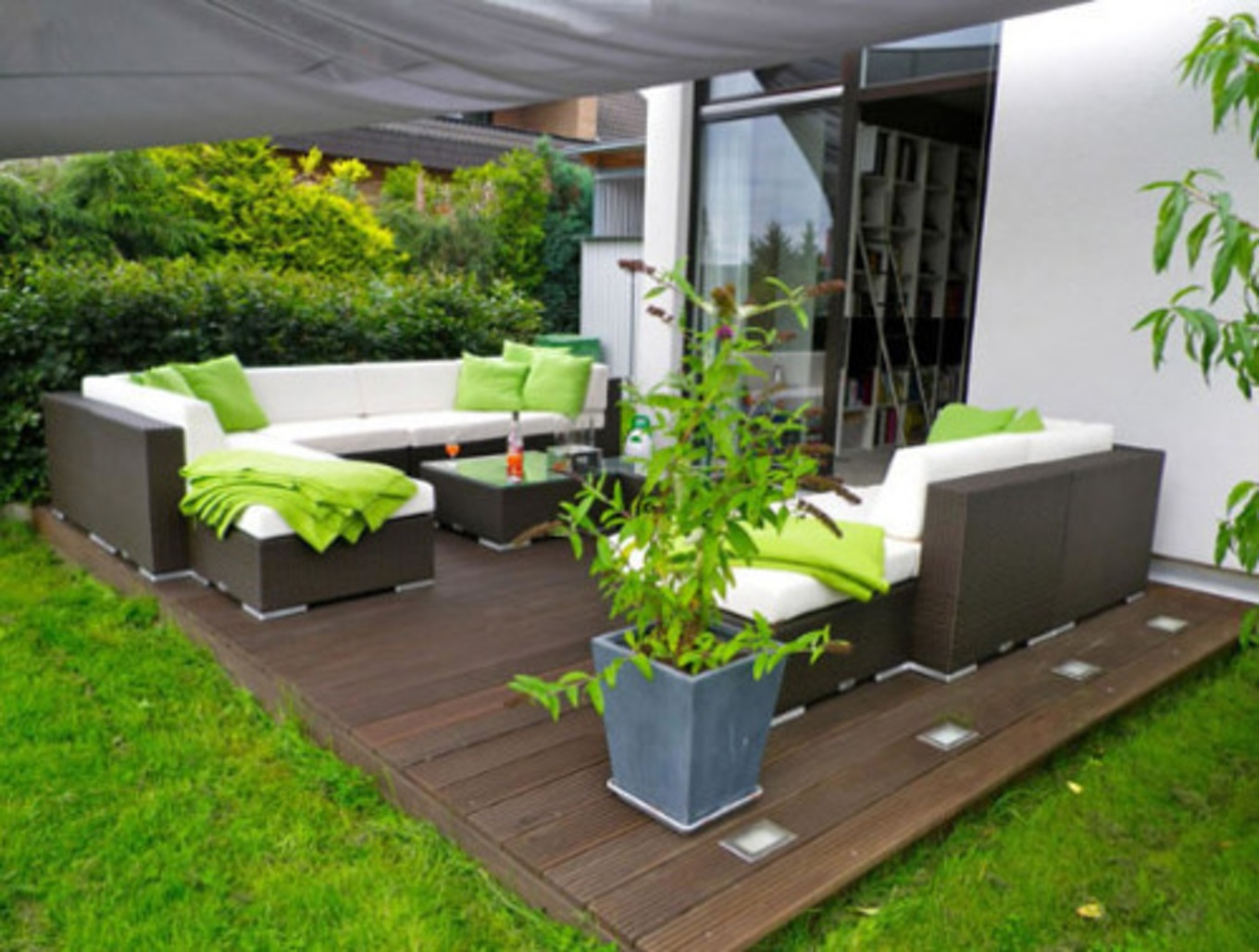Id e d co ext rieur jardin maison fran ois fabie for Decoration terrasse maison