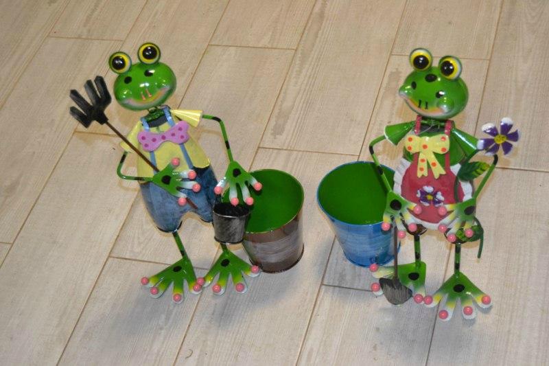 deco jardin grenouille