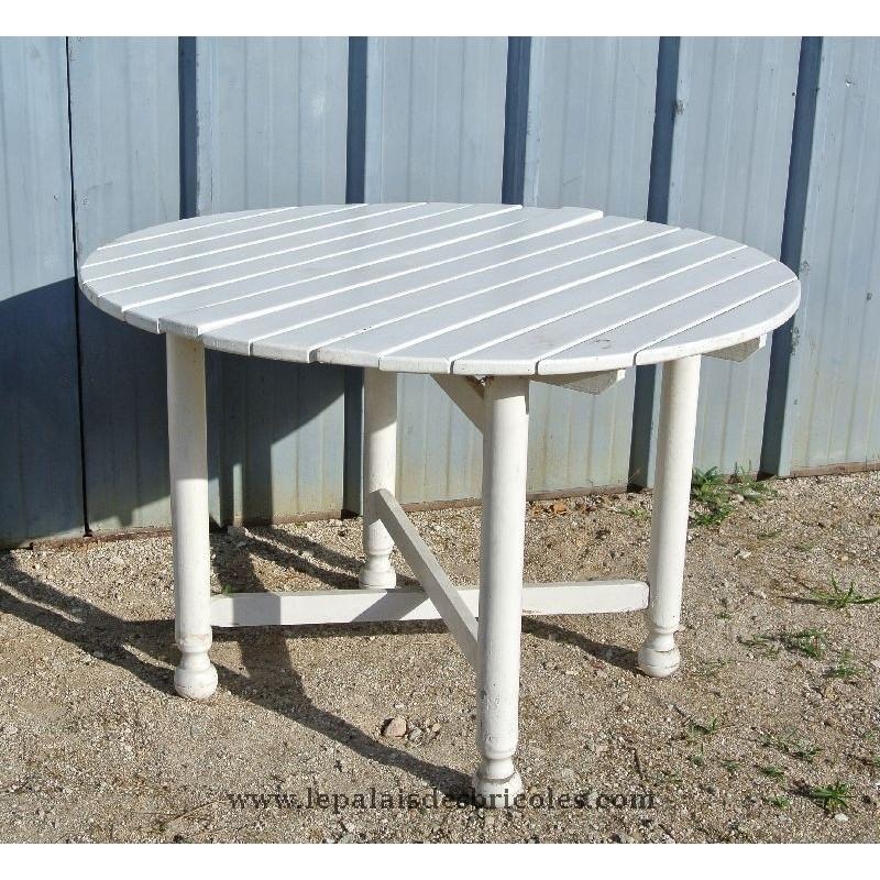table de jardin ronde pliante maison fran ois fabie. Black Bedroom Furniture Sets. Home Design Ideas