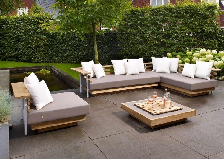 Canape de jardin bois | Hotelauxsacresreims