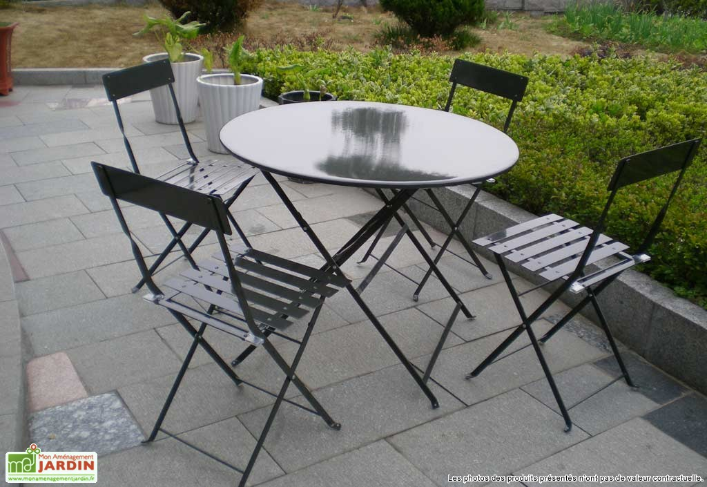 Awesome Table De Jardin Metal Ronde Gallery - Amazing House Design ...