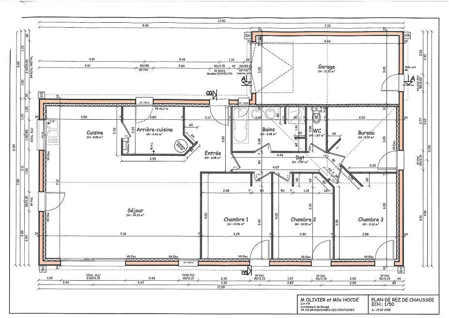 plan garage parpaing maison fran ois fabie. Black Bedroom Furniture Sets. Home Design Ideas