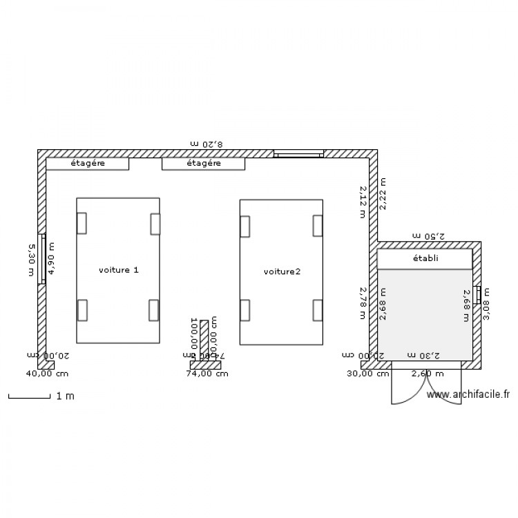Célèbre Plan garage 2 voitures - Maison François Fabie UT88