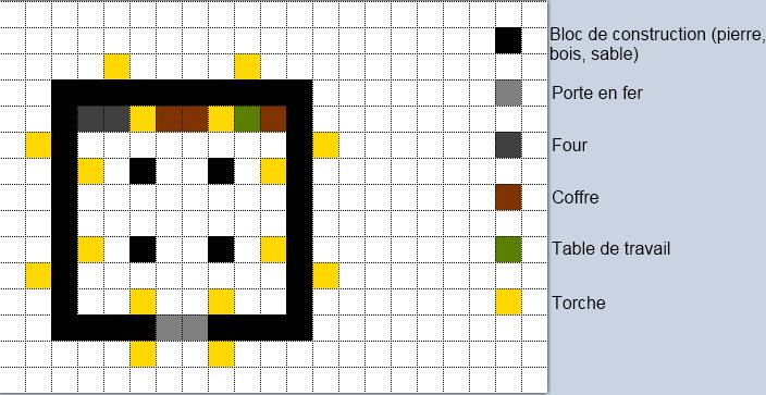 minecraft plan de construction maison moderne maison fran ois fabie. Black Bedroom Furniture Sets. Home Design Ideas