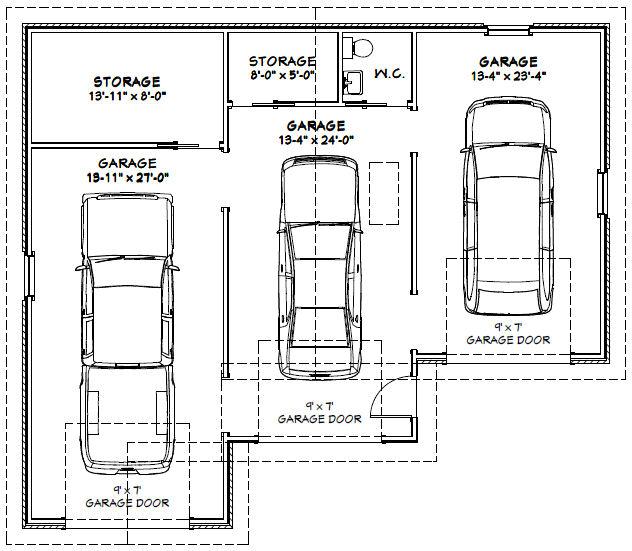 dimension d un garage maison fran ois fabie. Black Bedroom Furniture Sets. Home Design Ideas
