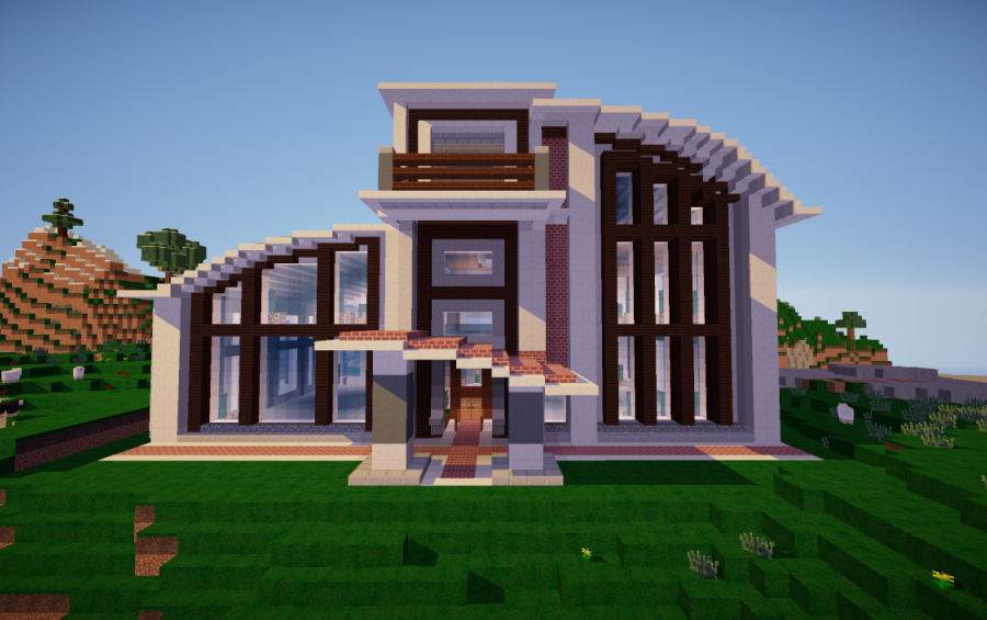 Modern house minecraft maison fran ois fabie for Maison moderne minecraft xbox one