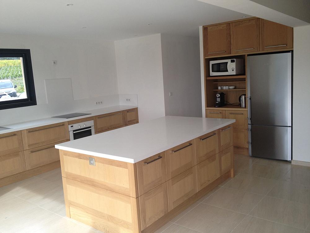plan de cuisine quartz maison fran ois fabie. Black Bedroom Furniture Sets. Home Design Ideas