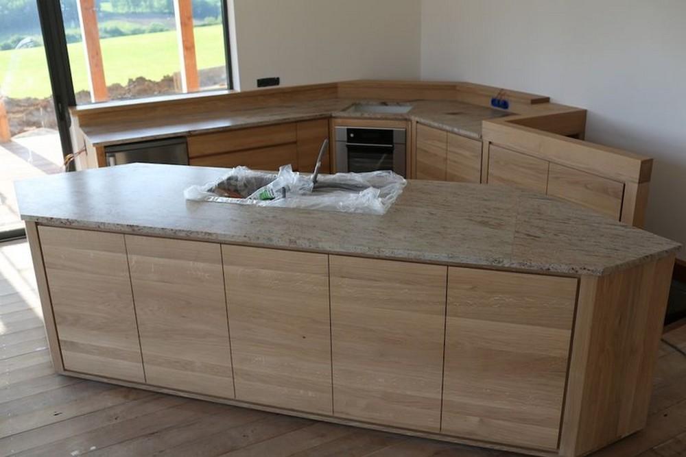 plan de travail sur mesure en granit - maison françois fabie - Cuisine Avec Plan De Travail En Granit
