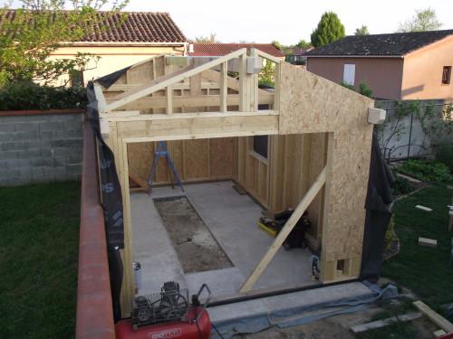 autoconstruction garage bois maison fran ois fabie. Black Bedroom Furniture Sets. Home Design Ideas