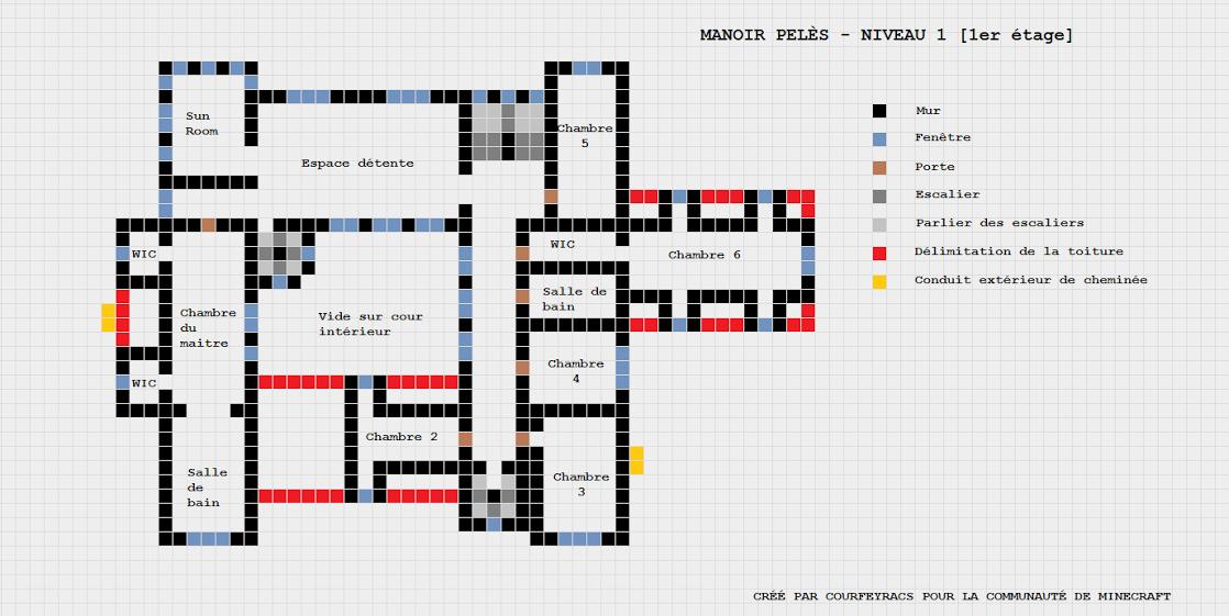 Fabulous Minecraft maison moderne plan - Maison François Fabie VL22