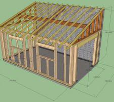 plan garage archives - page 4 sur 14 - maison françois fabie - Plan Garage Ossature Bois Toit Plat