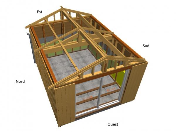 plan construction garage ossature bois - maison françois fabie - Plan Garage Ossature Bois Toit Plat