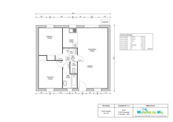 Plan garage 60m2 maison fran ois fabie for Garage bois 60m2